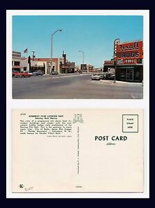NEW MEXICO DEMING REXALL DRUG STORE HIGHWAYS 70 & 80 LOOKING EAST CIRCA 1960