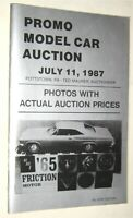 Vintage 1987 Promo Model Car Auction & Kit Price Guide