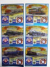 Lionel Train Locomotives Mint  Instant Lottery Ticket Set of 6 diff, unique