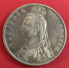 Rare 1889 Great Britain Silver Half Crown