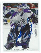Mathieu Garon Signed 2006/07 Fleer Ultra Card #91