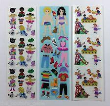 Vintage Sandylion CHILDREN KIDS PLAY CRAFT Glitter Prismatic Shiny Sticker Lot