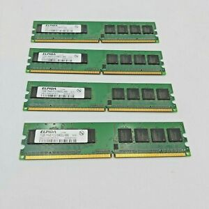4 x 1GB  1Rx8  Elpida PC2-6400U-666