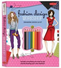 Fashion Design Workshop Drawing Book & Kit: Includes everything you need to get.