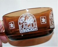 Oven Proof, Anchor Hocking, Vintage Eagle Snacks Glass Snack Bowl