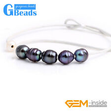 """Fashion Jewelry 9-10mm 5 Pearls Strand White Rope Necklace Adjustable Size 17.5"""""""