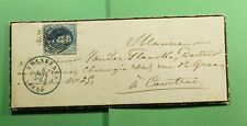 Dr Who 1854 Belgium Brussels Fancy Cancel Mourning Cover Plus Letter f55113