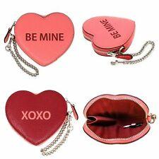 NWT Coach Candy Heart Zip Coin Purse Be Mine XOXO 91085
