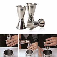3 Size Jigger Single Double Shot Cocktail Wine Short Measure Cup Drink Party  xb