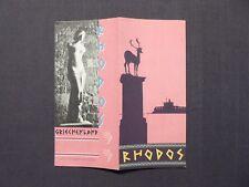 Reiseprospekt Hellas, Rhodos, Griechenland, Athen 1959, deutsch