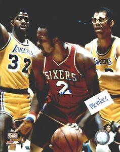 Moses Malone Philadelphia 76'ers Autographed Signed 8x10 Photo #1 HOF COA