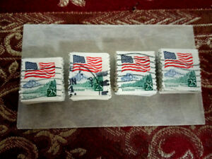 USA, SCOTT # 2280 & 2280A, USED LOT OF 100 FLAG OVER YOSEMITE IN GOOD QUALITY