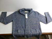 NEW Womens RALPH LAUREN Denim Supply Cardigan Sweater Wool Silk Linen Blend sz L