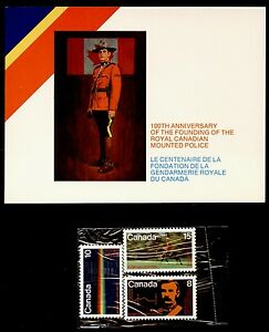 Canada 612-4 In presentation Folder MNH RCMP, Musical Ride, Spectrograph, Horses