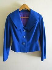 vintage 50s blue barathea jacket pinup rockabilly retro