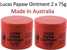 2 x 75g LUCAS PAPAW Ointment Nappy Rash Cream PAW Cracked Lip Gloss  木瓜霜75克