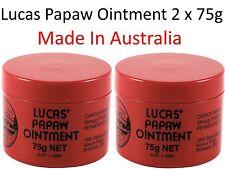 2 x 75g LUCAS PAPAW Ointment Nappy Rash Cream PAW Cracked Lip Gloss  木瓜霜75克
