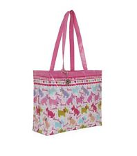 HARRODS WESTIE e Scottie Dog Design Rosa Spalla Tote Bag-Free Portachiavi