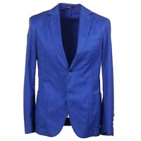 RODA Slim-Fit Bright Blue Floral Patterned Cotton Suit 38R (Eu 48) NWT $1395