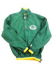 Starter NFL Green Bay Packers Mens 1/2 Zip Jacket Wind Breaker sz M