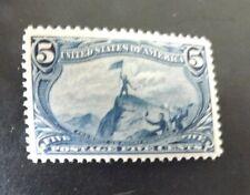 Mint US Stamps - Scott 288  5c Trans- Miss    PSAG Cert Grade 80 OG PH
