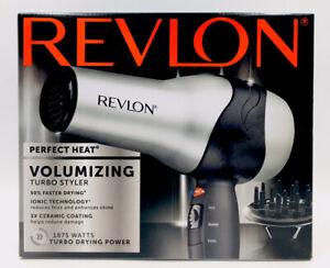 Revlon Perfect Heat Volumizing Turbo Styler Ionic Ceramic 1875 Watt Black/Silver