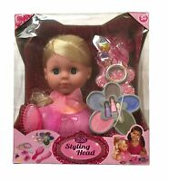 Salon World Toy Styling Head Playset With Brush Make Up & Accessories