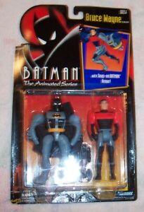 1993 Kenner Batman Animated Series Bruce Wayne Snap On Batman Armor MOC