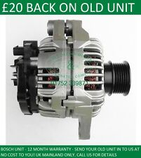 VAUXHALL VECTRA 1.9 CDTi 2004-2008 BOSCH ALTERNATOR 13229990 93191920 0124325172