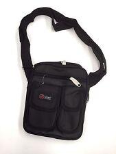 Travel Strap Shoulder Hand Bag Black Cross body Polyester 22 x 18 cm (p3)