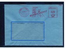 Bund Brief Absenderfreistempel Mannheim 19.10.53 Rombachkohle Bergbau