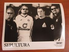 Vtg Glossy Press Photo Metal Band Sepultura Members Roots Bloody Roots Territory