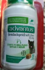 NEW SEALED Advantus Oral Flea Soft Chews for S-M dogs 7.5mg 4 to 22 lbs