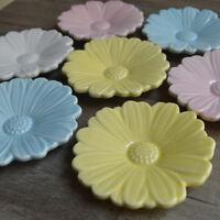 Romantic Daisy Floral Flower Ceramic Round Jam Salad Plate Sauce Dish Holder New