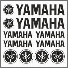 10x YAMAHA Black STICKERS TMAX Super Tenere XT 660Z 1200Z FZ-S FZ MT XSR TDM
