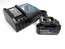 Makita Genuine OEM 18V LXT 5Ah Lithium Ion Battery & Charger Kit BL1850 BL1850B