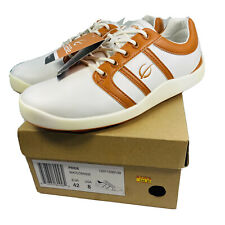 Gobe Pride Size 8 Eu 42 White Orange Golf Shoes Leather Spikeless Retail $150 Sr