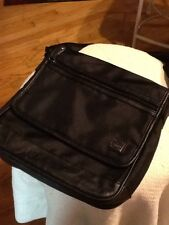 CARPISA Crossbody Shoulder Bag Black nylon with leather Adjustable Strap