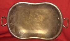 Antique Art Deco Brass Bowl Platter