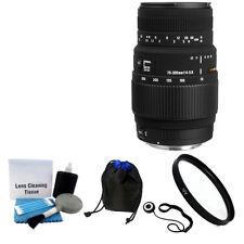 Sigma 70-300mm f/4-5.6 DG Macro AF Lens f/ Canon 60D 70D 5D 7D T3i T4i + UV Kit