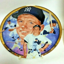 The Lengendary Mickey Mantle Baseball Glass Collector Plate Hamilton Collection