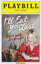Bette Midler signed I'll Eat You Last Playbill