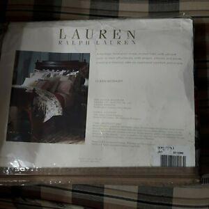Ralph Lauren Lake House Beige Floral Queen Bedskirt Dust Ruffle NIP