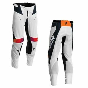 2022 Thor Pulse Reactair MX Motocross Offroad Riding White Midnight Pants