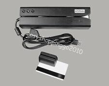 MSR606 HiCo Magnetic Card Reader Writer & MiniDx3 3Tracks Portable Reader Bundle