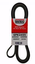 "6PK2455 Bando 6 Rib Serpentine Belt 96.7"" (2455mm) 5060968, K060966 [HALL]"