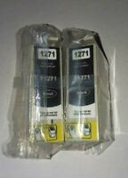 127 Extra High-Yield Ink Cartridges 2 Pack Black Remanufactured Epson NEW Sealed