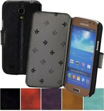 Samsung Galaxy S4 Mini Case Book Real Leather Cover 1A Wallet Case