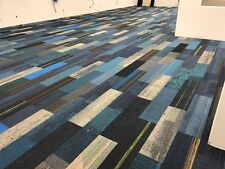 High Quality Carpet Tile Planks Modular Assorted Blues 400 sq ft Free Shipping
