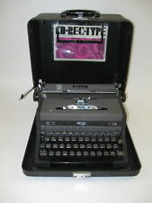 "VTG 1948 ROYAL ""Quiet De Luxe"" Black/Charcoal All Metal Manual Typewriter Case"